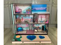 LOL surprise Doll house with accessories pull out pool and hot tub