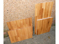 Solid Oak Block Worktop Offcuts - Ideal as chopping boards or for craft turning - £30 the lot
