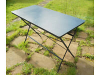 Folding Metal Patio or Garden Table, Desk
