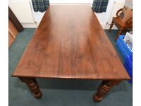 Large hardwood dining table