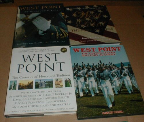 4 West Point Military Academy US Army collector Book lot Bicentennial books