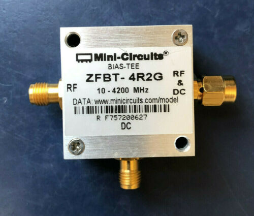 Mini-Circuits ZFBT-4R2G Coaxial Bias-Tee, 10 to 4200 MHz  RF&DC --NEW