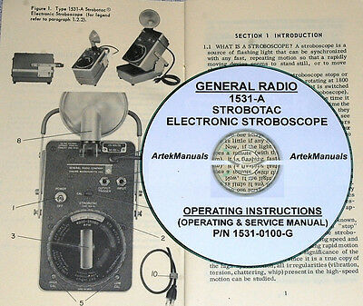 General Radio 1531-a Strobotac Manual Operating Service Schematics