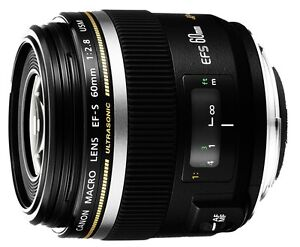 New CANON EF-S 60mm f2.8 Macro USM Digital SLR Camera Lens