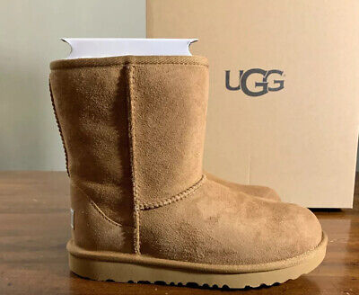 UGG KIDS CLASSIC II SHORT 1017703K CHESTNUT SIZE 4 GIRLS NEW AUTHENTIC BOOTS