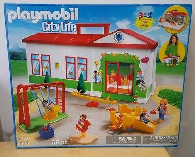 PLAYMOBIL 5606 CITY LIFE NURSERY PRE SCHOOL KINDERGARTEN PLAYGROUND TOY NEW XMAS
