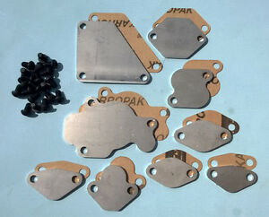 93-95-RX7-RX-7-FD3S-FD-EGR-Block-Off-Plates-Blocker-TURBO-STAINLESS-Gasket