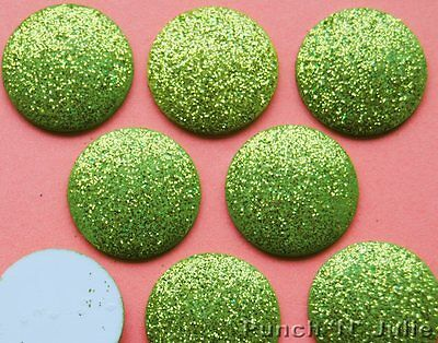 Big Glitter Dots (LIME BIG GLITTER DOTS - Green Tropical Fruit Dress It Up Craft Embellishments)