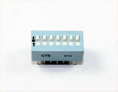 7 Pin Slidedip Switch Spst - Lot Of 3 Ds7a