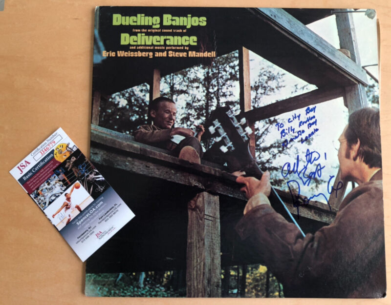 Autographed DELIVERANCE Ronny Cox &  Billy Redden Signed Lp JSA Certified