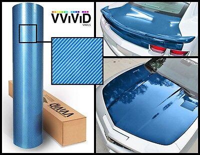 Blue carbon hi gloss tech art 3 layer laminated vinyl car wrap 30M x 1.52M VV9