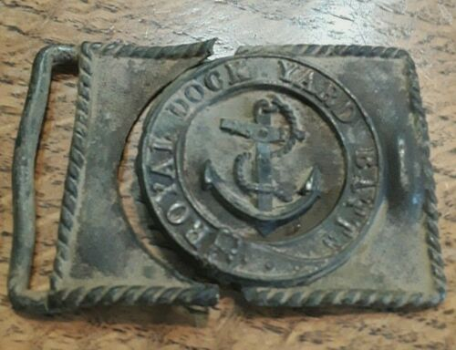 Pre-Civil War Royal Dockyard Battalion Buckle Early 1800 Late 1700