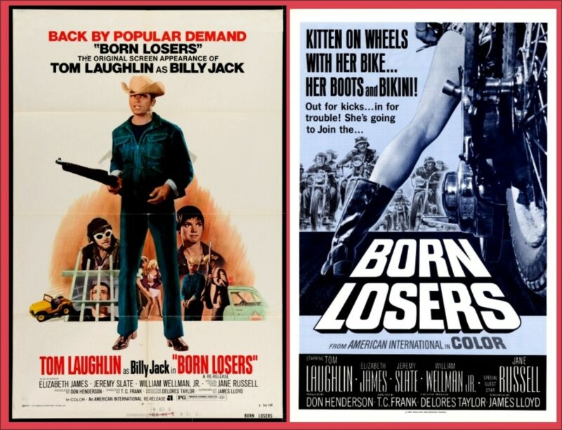 BORN LOSERS pressbook AND POSTER, Billy Jack film, Tom Laughlin, Jane Russell