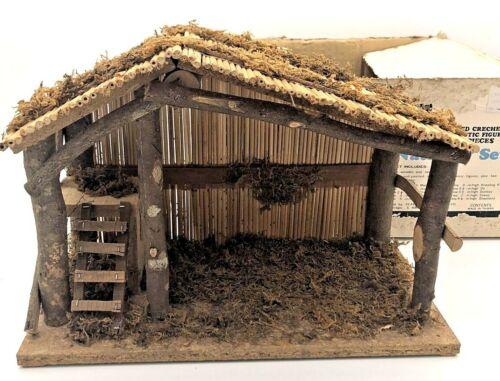Vintage Sears Christmas Nativity Stable Manger