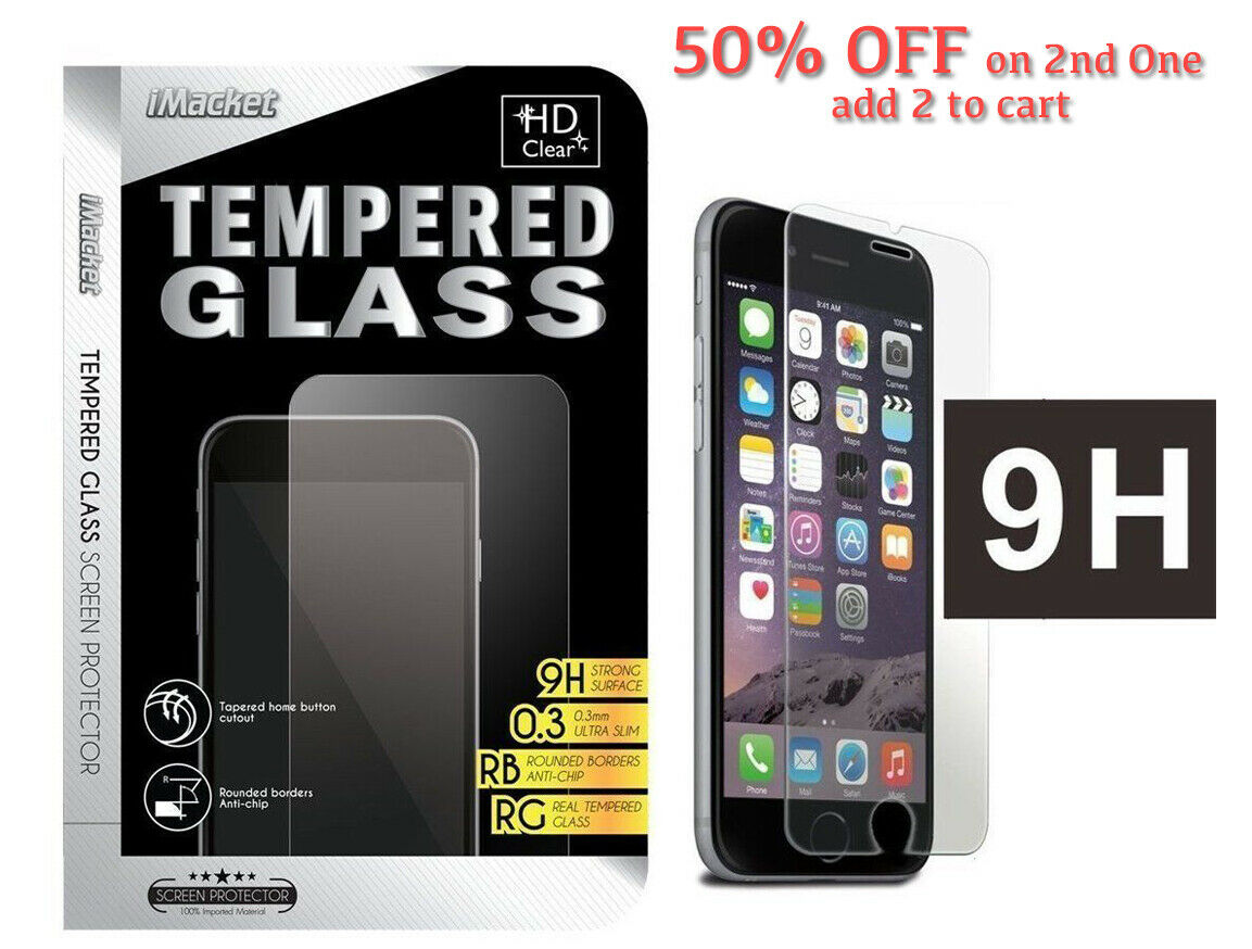 iPhone 8 Plus Tempered Glass Screen Protector 7 / 8 / X / X