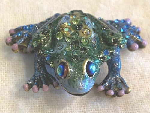 Vintage Jay Strongwater Frog Brooch