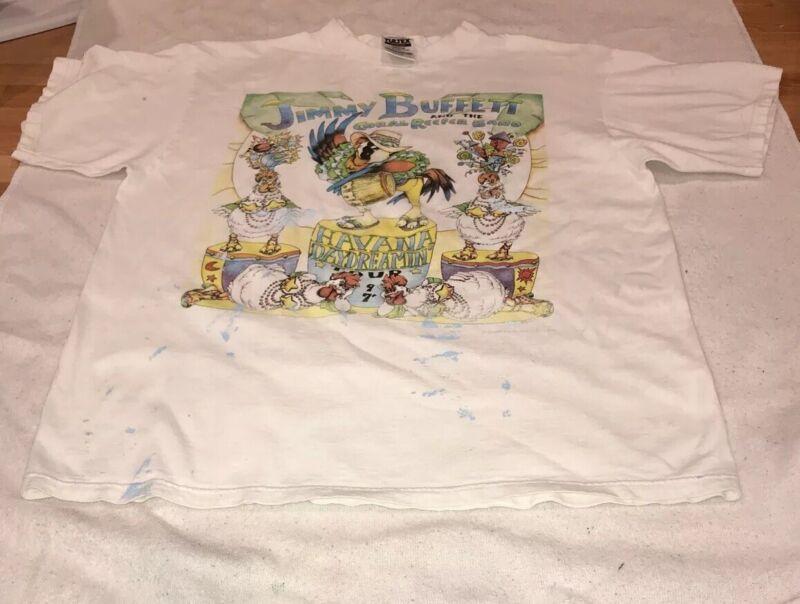 JIMMY BUFFETT CORAL REEFER BAND HAVANA DAYDREAMIN TOUR 97' T SHIRT XL See Descr