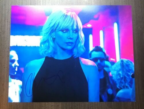 * CHARLIZE THERON * signed autographed 11x14 photo * ATOMIC BLONDE * 1