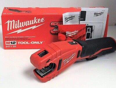 New Milwaukee 2471-20 M12 12V 12 Volt Cordless Copper Tubing Cutter