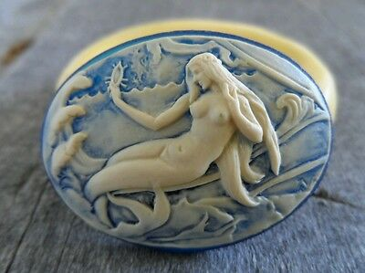 MERMAID cameo silicone push mold mould polymer clay resin food grade USA