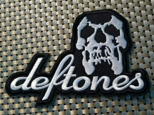 Deftones (band) Embroidered Patch Iron-On Sew-On US shipping Skull