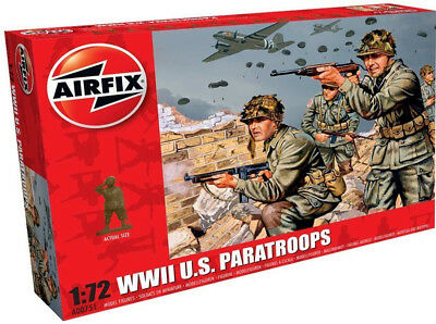Airfix 48 WWII U.S. Paratroops 1:72 Scale Plastic Model Figures A00751