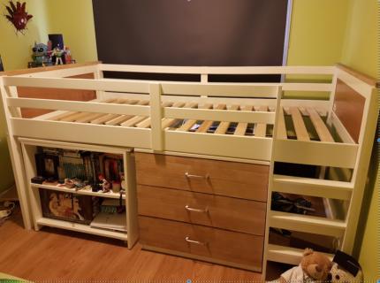 King Single Loft bed set