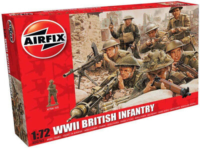Airfix 48 WWII British Infantry 1:72 Scale Plastic Model Figures A00763