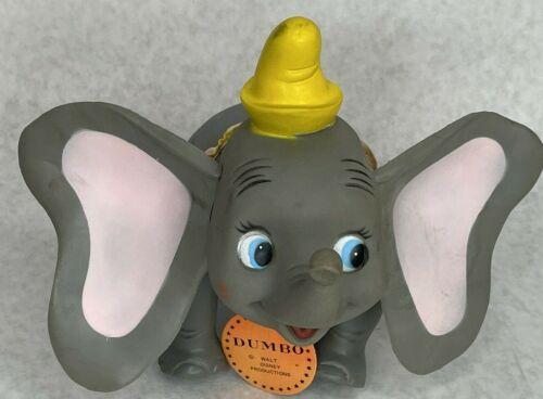 Vintage Walt Disney DAKIN Dumbo Elephant Vinyl Figurine 1960s Jointed Posable