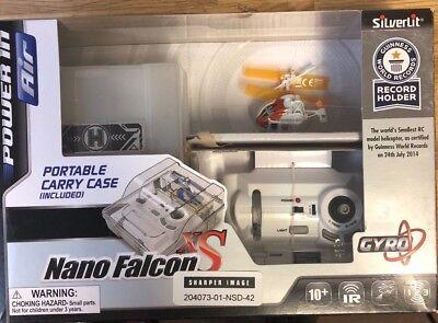 Silverlit Nano Falcon XS - Remote Control Helicopter, Orange Drone RC Toy Mini
