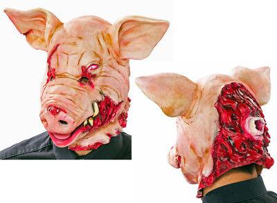 blutige Schweinemaske Horror Schwein Maske Blut Grusel Horro - Schwein Latex Maske