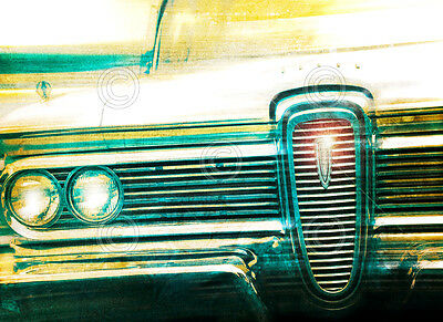 VINTAGE 1960 OLDSMOBILE ART PRINT 60 Olds Tail by Richard James Car Poster 13x19
