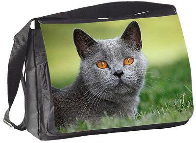 Messenger Kurze (BRITISCH KURZHAAR Katze - COLLEGETASCHE Handtasche Tasche Bag 34 - BRK 06)