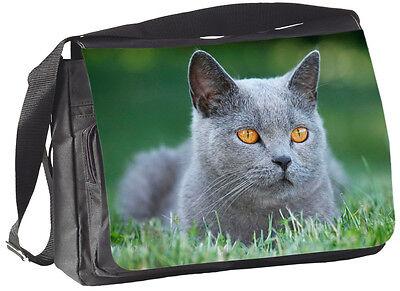 Messenger Kurze (BRITISCH KURZHAAR Katze - COLLEGETASCHE Handtasche Tasche Bag 34 - BRK 05)