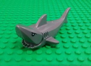 *NEW* Lego Grey Great White Shark Detailed Eyes Ocean Water Bath Settings x 1