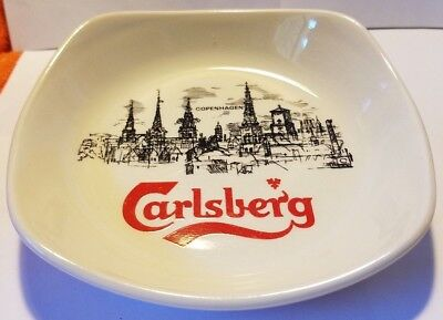 "CARLSBERG 6"" Ashtray Cigarette Cigar Cannabis Wade Pottery England"