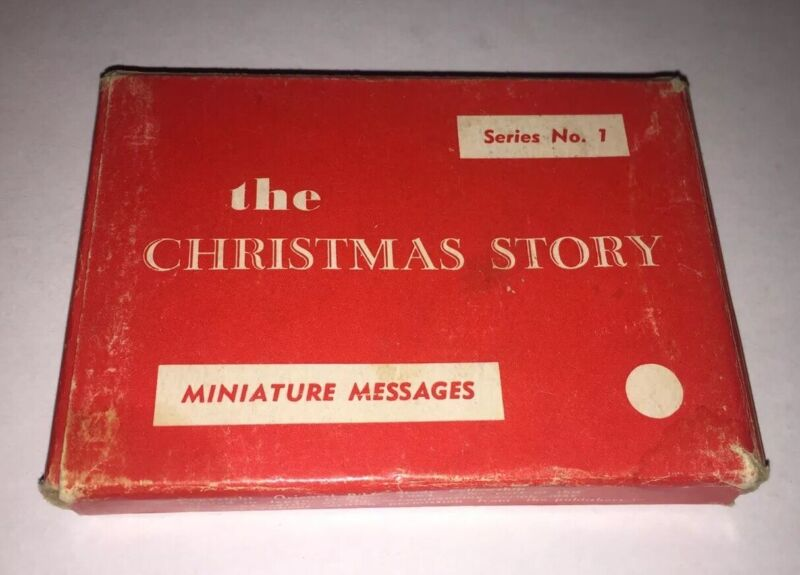 The Christmas Story Cards Miniature Message Japan  Vintage
