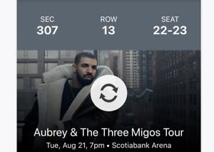 DRAKE!!! Aubrey & the Three Migos tour