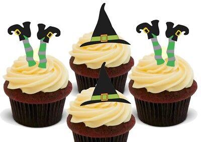 Halloween Hexenhut / Füße Mix Premium Essbar Kuchen Topper Kostüm ()