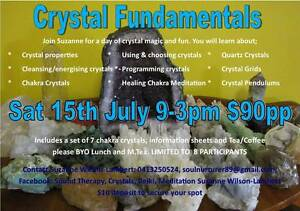 Crystal Fundamentals Workshop 9am-3pm Maitland Maitland Area Preview