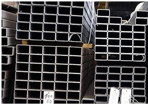 ferro tubolare quadrato nero sezione quadra mm 80x80 cm