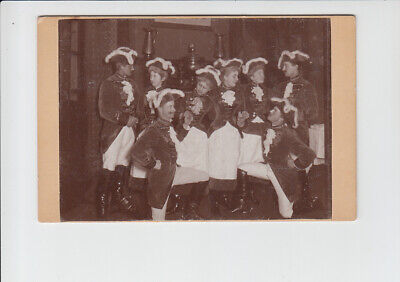 CDV-Hartkartonfoto Theater, Variete, Kostüme, Operette, Prinzengarde, Karneval