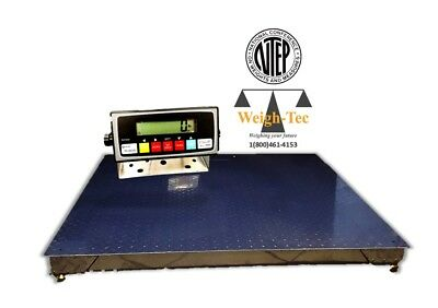 4x4 10000lb Ntep Floor Scale W Indicator