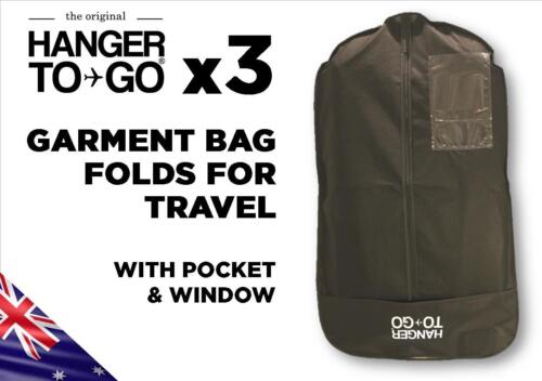 Hanger To Go Garment Clothes Bag Breathable Folds For Easy Travel With Pocket X3