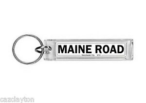 Manchester-City-Maine-Road-Street-Sign-Keyring-Football-Fc