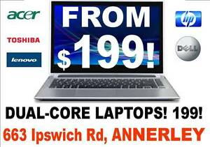 QUALITY LAPTOPS! BUDGET PRICES! Buy Ex-Gov and SAVE $$ From $199! Annerley Brisbane South West Preview