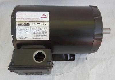 208v Motor (WEG General Purpose Motor 00158OT3E145TC-S 1.5HP 1800 RPM 3PH 208V 230V 460V  )