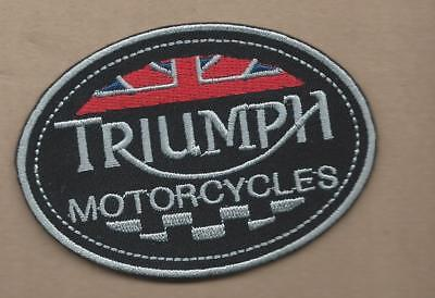 NEW 2 1/2 X 3 1/2 INCH TRIUMPH MOTORCYCLES IRON ON PATCH FREE SHIPPING