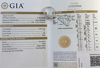 0.75 ct 18K White Gold Round Diamond Halo Engagement Ring GIA Rtl $2,700 8