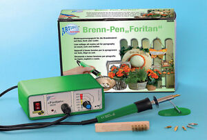 BRENNSTATION - HOLZ- KORK- LEDER Brennpeter Brennkolben Brenn Pen Foritan